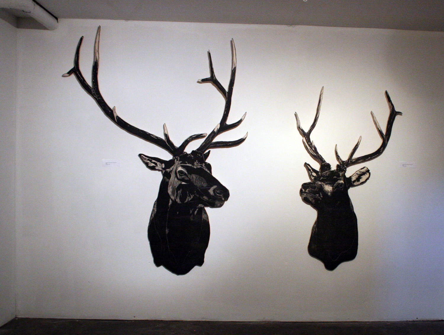 Mike's Elk Heads by Nic Annette Miller